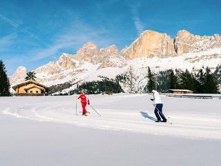 Cross Country ski-tracks a Carezza Dolomites