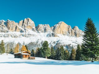 natur winter Carezza Ski hut panorama