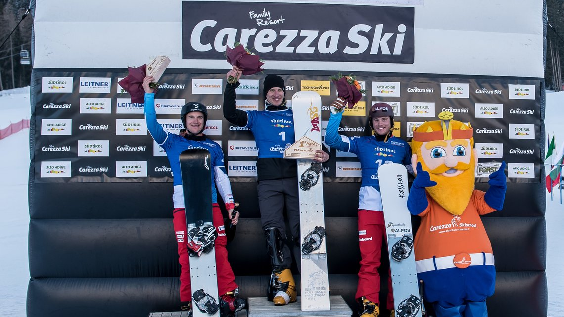 Snowboard Worldcup victory ceremony
