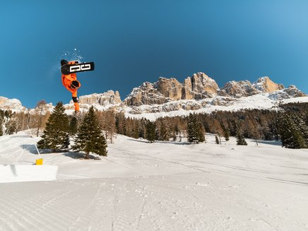 Fun guaranteed in the Snowpark Carezza