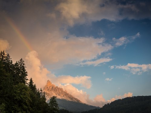 Rainbow over the Latemar